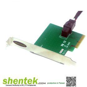 NVMe U.2 PCI Express x 4 lanes Card