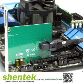 NVMe U.2 SFF-8643 PCIe Card