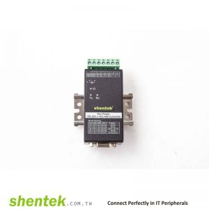 Industrial High Speed Bi-Directional RS-232 to RS-422/485 Port Powered 600W Surge Converter. With DIN Rail Kit