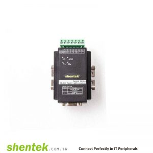 Industrial RS422/485 to RS-232 Addressable function, 3KV Optical Isolation, 600W Surge Converter. With DIN Rail Kit