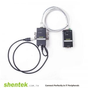 Industrial USB to High Speed 921K Serial RS-232 Extender Over Cat5 Up to 1.2KM(115.2k) With DIN Rail Wall Mount Kit