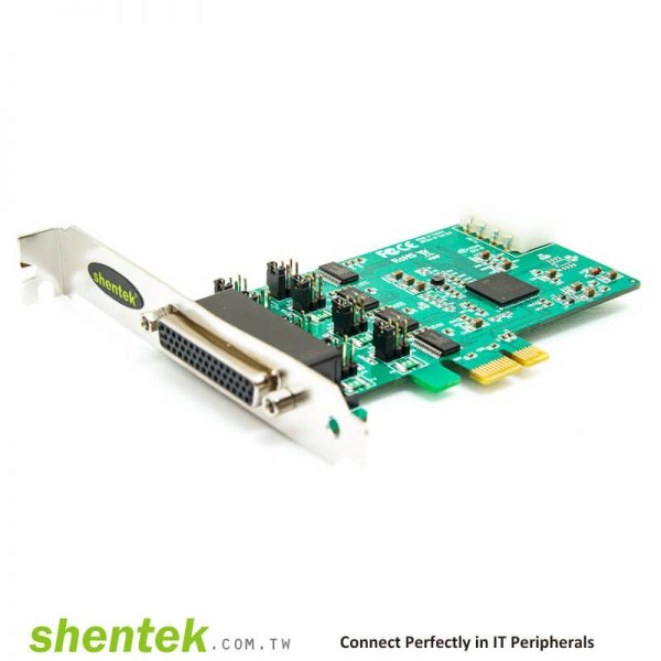 PCIe ESD 4 port RS232 Serial Card Powered I/O 5V/12V Standard Low Profile Bracket Manufactory in Taiwan shentek 52002