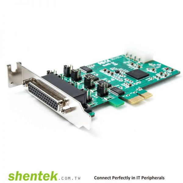 PCIe ESD 4 port RS232 Serial Card High Speed 921.6K 52002 shentek