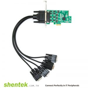 PCIe ESD 4 port RS232 Serial Card Powered I/O 5V/12V Standard Low Profile Bracket Manufactory in Taiwan