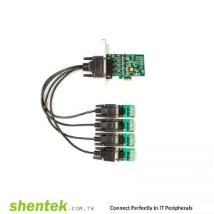 Industrial Surge ESD PCIe 4 port RS485 RS422 com port Serial Card Standard and Low Profile Bracket Manufactory in Taiwan