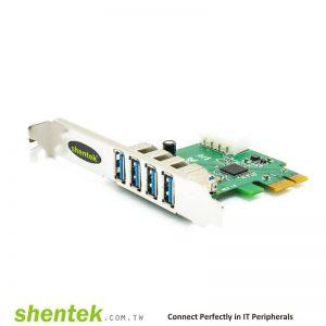 TI USB 3.0 PCIe 4 port USB A Card Texas Instruments TUSB7340 Manufactory in Taiwan