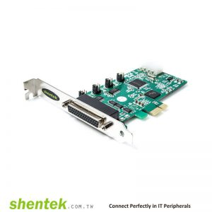 2 port High Speed Serial RS-232 + 1 port Parallel PCIe card support Pin1 – 5V/12V/DCD, Pin9 - 5V/12V/RI Selectable Powered I/O Card and Standard and Low Profile Bracket