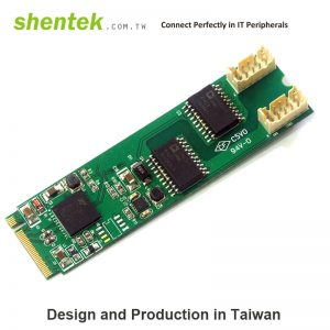 2 port Serial RS-232 M key M.2(NGFF) card + 2.5KV Isolation Protection