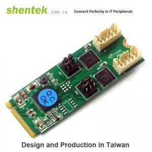 2 port High Speed Serial RS-232/422/485 M.2(NGFF, M Key) Card