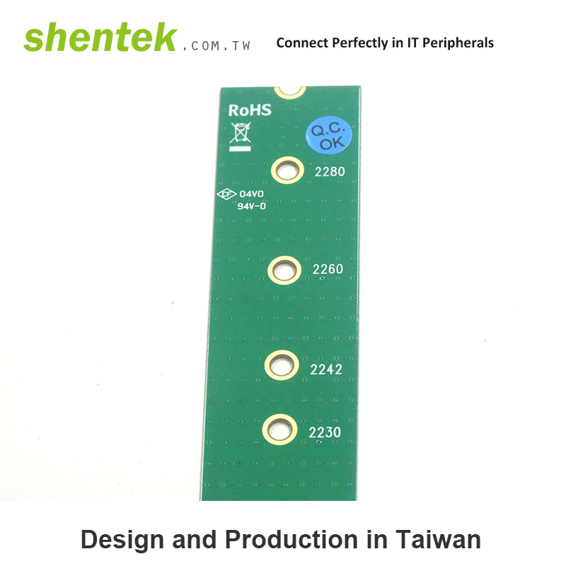 A Key to M Key Adapter M.2 Card - SHENTEK