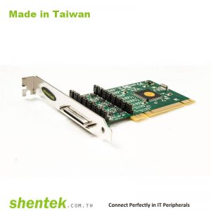 8 port High Speed Serial RS-422/485 Universal PCI card with 600W Surge and Standard and Low Profile Bracket