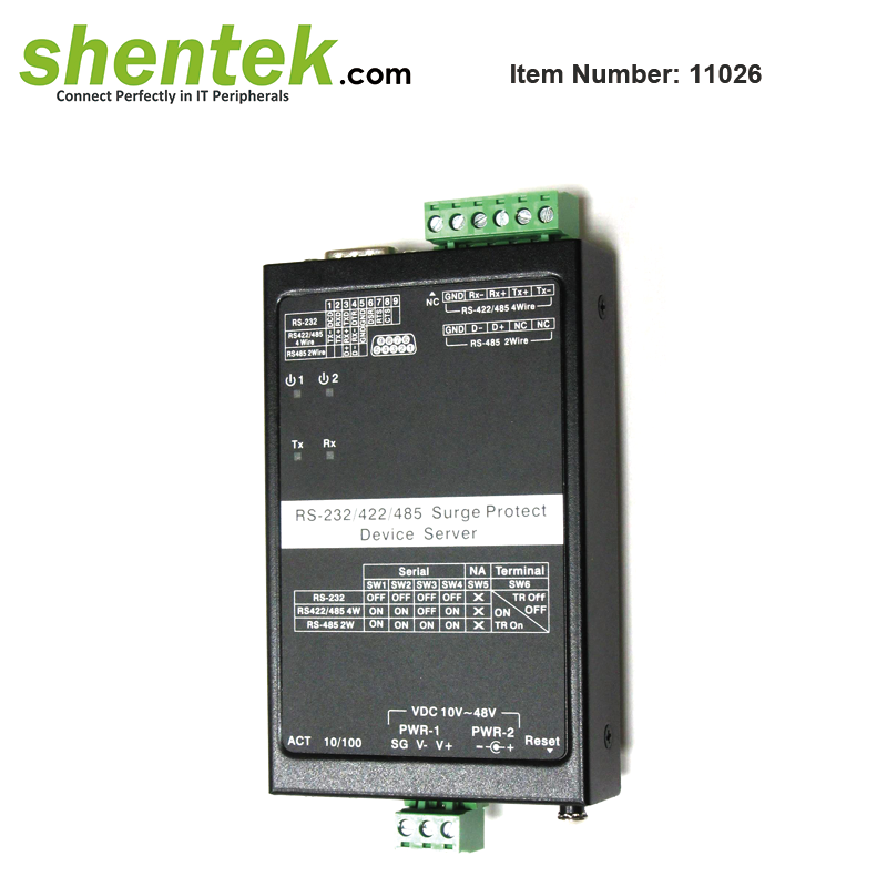 RS232 RS422 RS485 Serial Device Server Over Ethernet