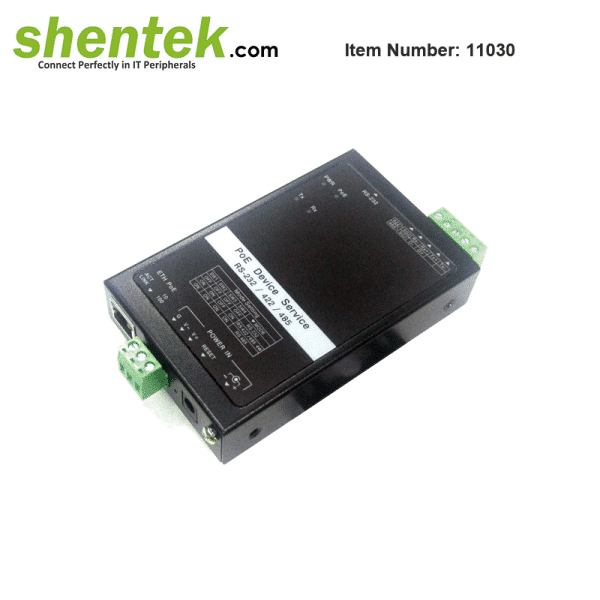 shentek-11030-Serial-Device-Server-Over-IP-with-PoE-PD-function
