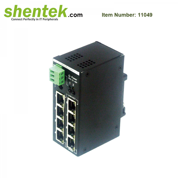shentek-11049-8-port-10-100-unmanagment-switch-with-PoE-PSE-function