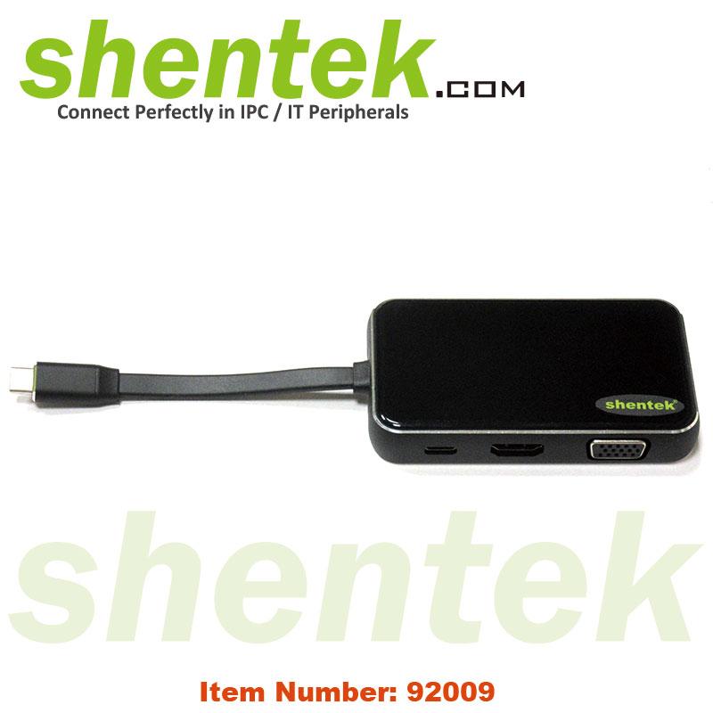 USB-C to 2 port USB HUB HDMI VGA Giga LAN USB PD