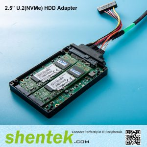 "2.5"" U.2 NVMe HDD Adapter 2 slot B key Hardware raid 0/1"